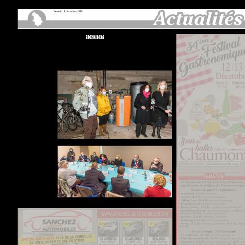 Article de presse Journal de la Haute Marne – Parution du 12 décembre 2020